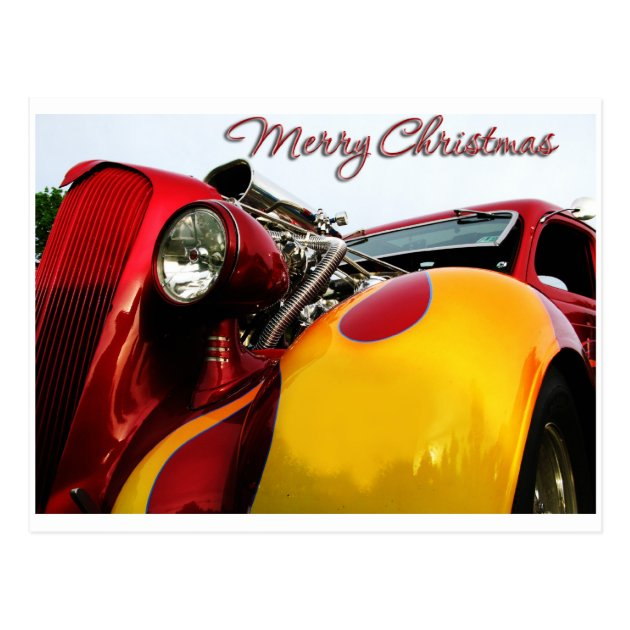 Hot Rod Christmas Card | Zazzle