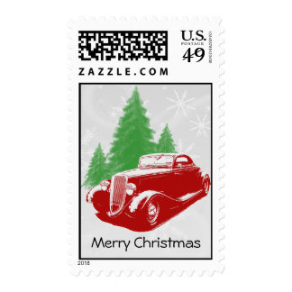 Hot Rod Christmas Stamps