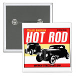 Hot Rod - Classic American Sports Car Button