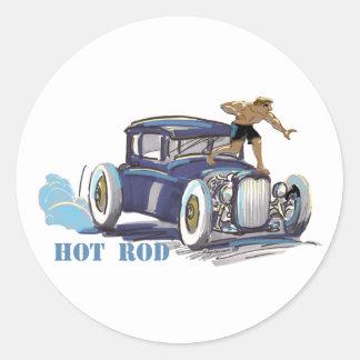 hOt rOd Classic Round Sticker