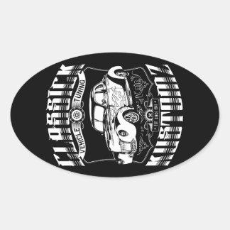Hot Rod - Classick Kustomz (white) Oval Sticker