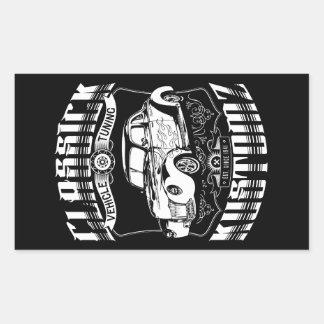 Hot Rod - Classick Kustomz (white) Rectangular Sticker