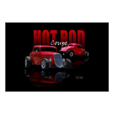 Hot Rod Coupe 34 print
