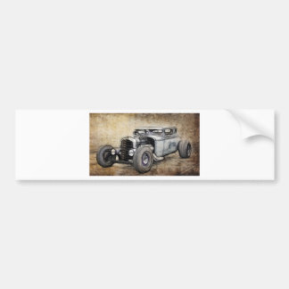 Hot Rod Coupe Bumper Sticker