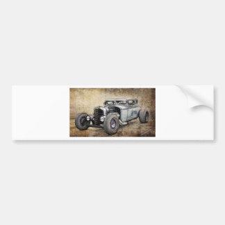 Hot Rod Coupe Car Bumper Sticker