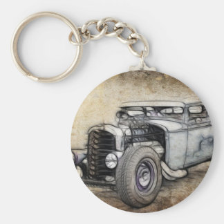 Hot Rod Coupe Keychain