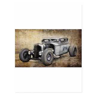 Hot Rod Coupe Post Card