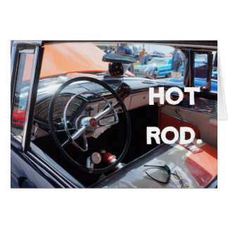 """Hot Rod"" Customizable Hot Rod card by Brad Hines"