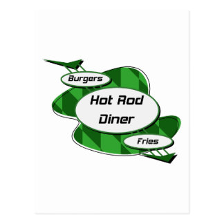 Hot Rod Diner By Gear4gearheads Postcard