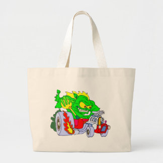 Hot Rod Dragon Large Tote Bag