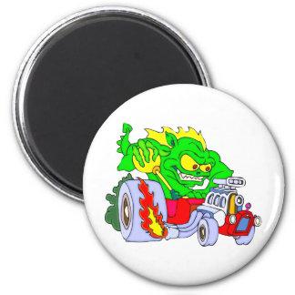 Hot Rod Dragon Magnet