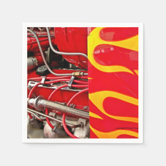 Hot rod engine napkins
