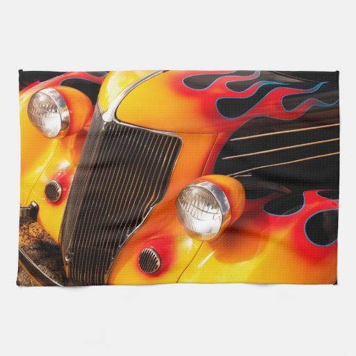 Hot Rod Flames Kitchen Towel
