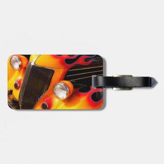 Hot Rod Flames Bag Tag