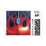 Hot Rod Flames Postage Stamp