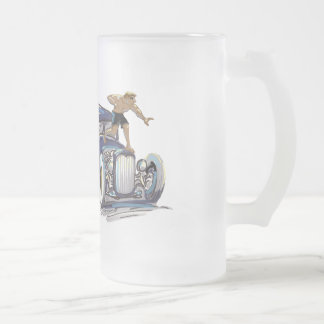 hOt rOd Frosted Glass Beer Mug
