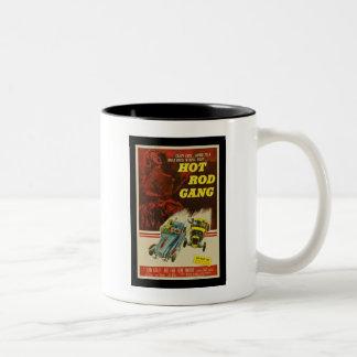 Hot Rod Gang Vintage Movie Poster Two-Tone Coffee Mug