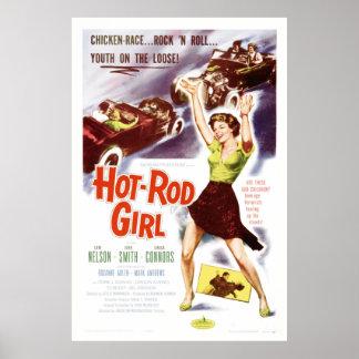 Hot Rod Girl - Vintage 50's Movie Poster