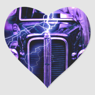 Hot Rod Heart Sticker
