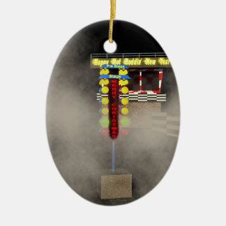 Hot Rod Holidays Ceramic Ornament
