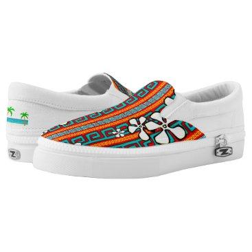 Beach Themed Hot Rod Hula Slip-On Sneakers