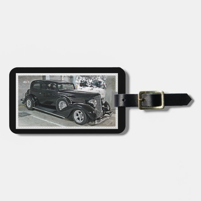 Hot Rod Luggage Tag