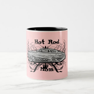Hot Rod Mom Two-Tone Coffee Mug