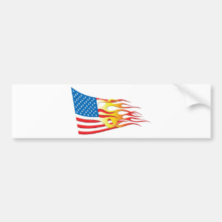 Hot Rod Nation Flag Car Bumper Sticker