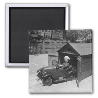 Hot Rod Pedal Car, early 1900s 2 Inch Square Magnet