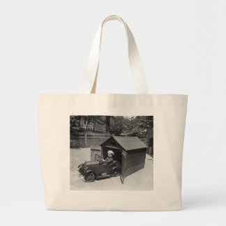 Hot Rod Pedal Car, early 1900s Large Tote Bag