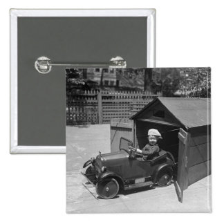 Hot Rod Pedal Car, early 1900s Pinback Button
