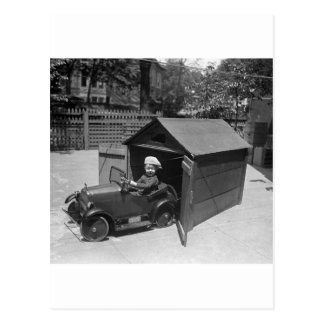 Hot Rod Pedal Car, early 1900s Postcard