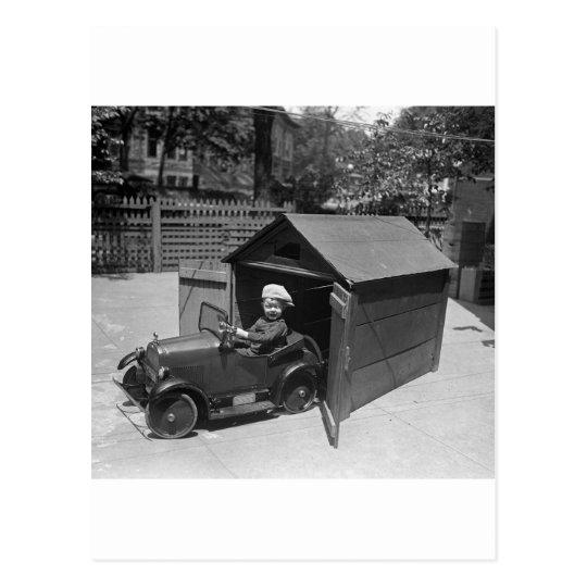 Hot Rod Pedal Car Early 1900s Postcard Zazzle Com