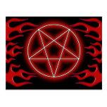 Hot Rod Pentagram Postcard