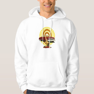 Hot Rod Pin Up Girl Hooded Pullover