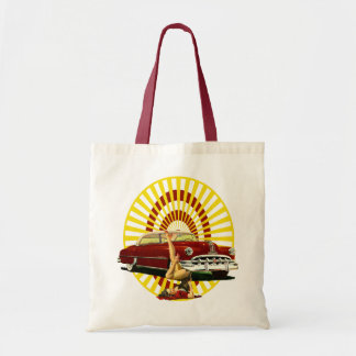 Hot Rod Pin Up Girl Tote Bag