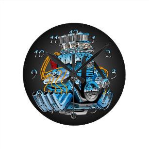 Hot Rod Wall Clocks Zazzle