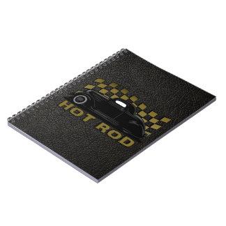 Hot Rod Racer Spiral Notebook