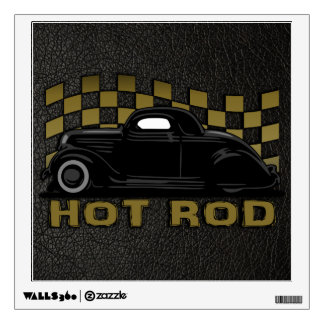 Hot Rod Racer Wall Decal