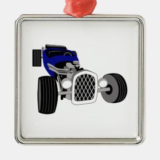 Hot Rod Roadster Metal Ornament