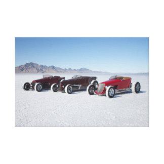 Hot rod Roadsters on the Bonneville Salt Flats Canvas Print