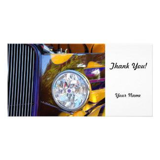 Hot Rod Show Car Light Photo Greeting Card