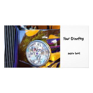 Hot Rod Show Car Light Photo Card Template