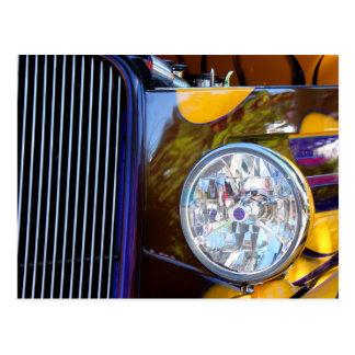 Hot Rod Show Car Light Postcard