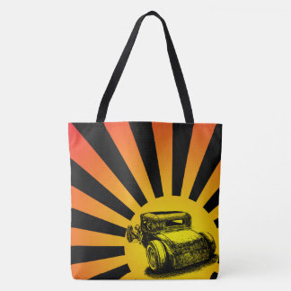 Hot Rod Sunset Tote Bag