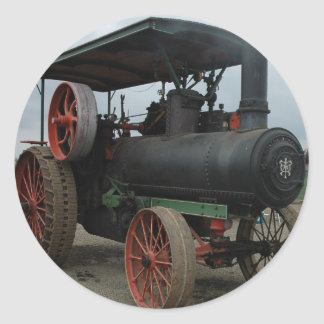 Hot Rod Tractor Classic Round Sticker