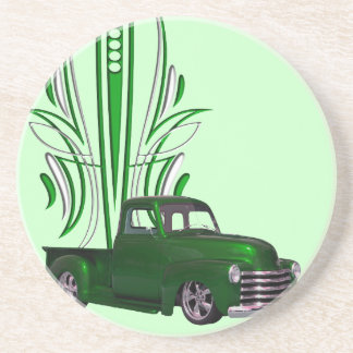 Hot Rod Truck Drink Coasters