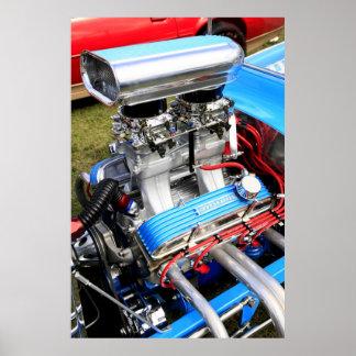Hot Rod V-8 Engine Poster