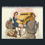 "Hot Rod Wall Calendar & Retro Pinups<br><div class=""desc"">Classic hot rods,  rat rods and motorcycles with cute and nostalgic pinups. Great for home,  office or work.</div>"