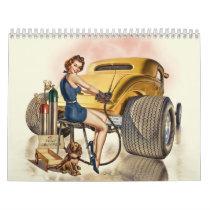 Hot Rod Wall Calendar & Retro Pinups